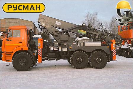 Автовышка КАМАЗ 43118 с автогидроподъемником HANSIN HS4070